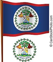 belize wavy flag