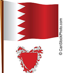 bahrain wavy flag