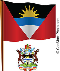 antigua and barbuda wavy flag