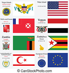 world flags and capitals set 27 - world flags of European...