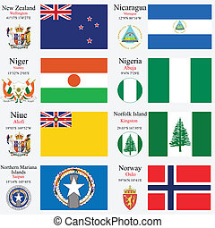 world flags and capitals set 17 - world flags of New...