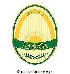 Beer label design.