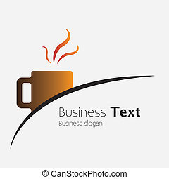 Freshly brewed coffee in a cafe or cafeteria- vector...