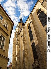 St. Giles Church, Prague, Czech Republic. - Roman Church of...