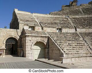 Roman Theater -  Ancient Roman Theater - Amman - Jordan