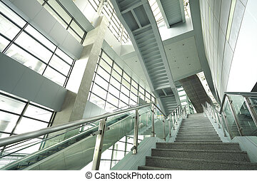 modern steps of moving business escalator - modern...