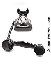 black bakelite phone - taken down black bakelite phone