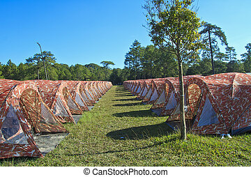 Tent in the countryside,Camping