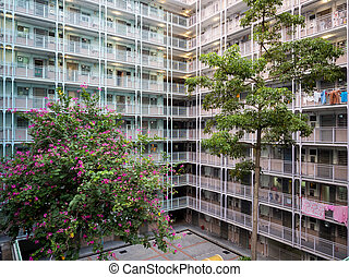 Sai Wan Estate, one of the oldest public housing estate in...