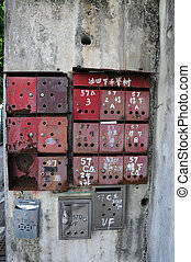 Old Mailbox in Chinese Style