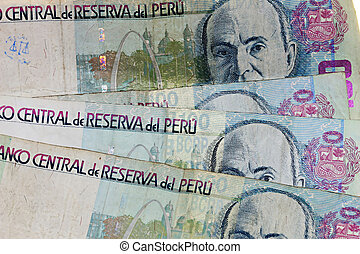 100 Soles Bills - A stack of 100 Sole Notes from Peru