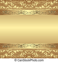 glamour background - decorative golden background - vector...