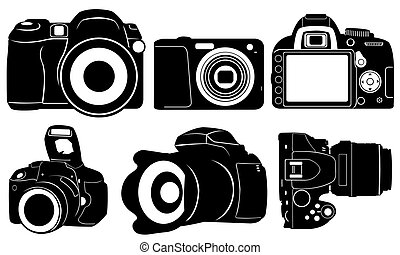 foto cameras - set of different cameras