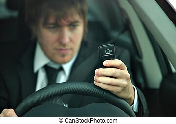 Drive - Man texting and driving