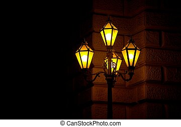 Lamp - Old fashioned street lamp at night