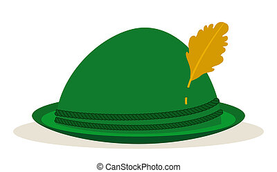 green oktoberfest hat traditional holidays