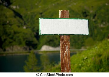 Sign - Empty signboard, add you own text