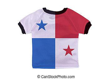 pequeño, camisa, Panamá, bandera, aislado,...