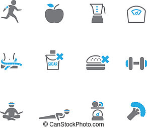 Duotone Icons - Healthy Life - Healthy life icon in duo tone...