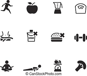 BW Icons - Healthy Life - Healthy life icon in single color...