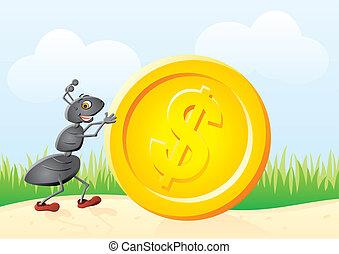 蟻, コイン
