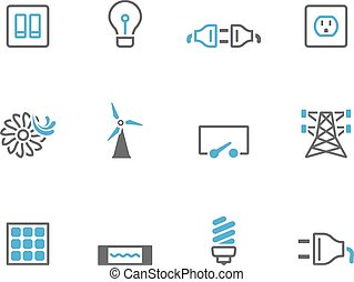 Duotone Icons - Electricity - Electricity icons in duo tone...