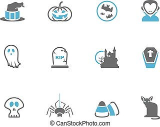 Duo Tone Icons - Halloween - Halloween icon series in duo...