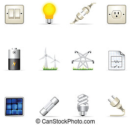 Color Icons - Electricity - Electricity icons in colors