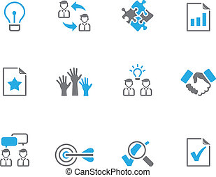 Duo Tone Icons - Management - Management icon series in duo...