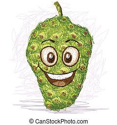 fruta,  noni, Feliz
