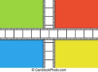Cinema reel background