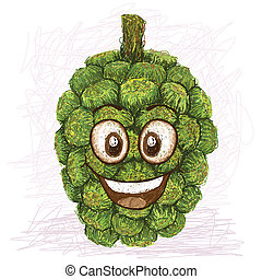 pandanus happy fruit - happy pandanus fruit cartoon...