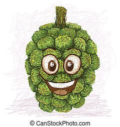 pandanus happy fruit - happy pandanus fruit cartoon...