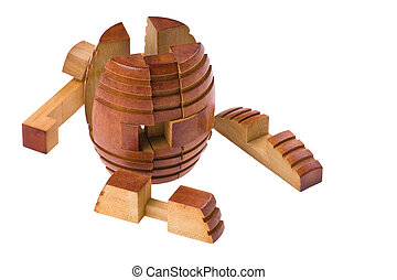 conundrum collect barrel - logical wooden puzzles to train...
