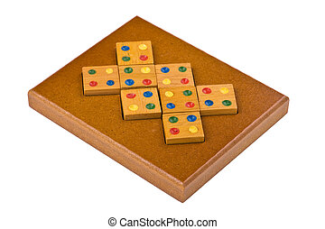 conundrum isolated - logical wooden puzzles to train your...