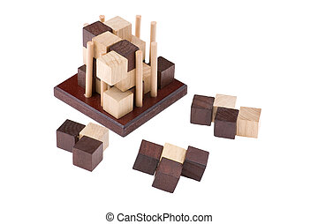 conundrum - logical wooden puzzles to train your brain