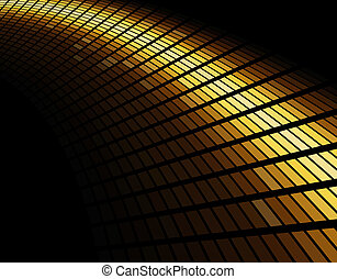 Abstract gold colored mosaic background.