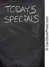 today\'s specials text on