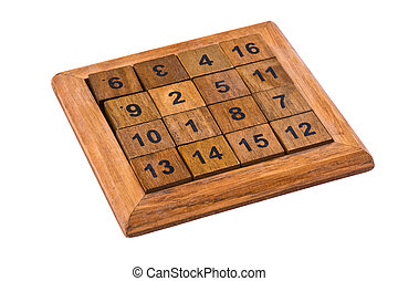 puzzle with numbers - logical wooden puzzles to train your...