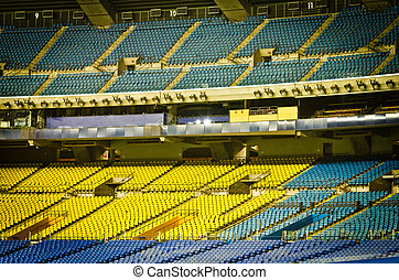 Empty Stadium Seats - Abandoned and Empty Stadium with...