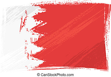 Grunge Bahrain flag - Bahrain national flag created in...