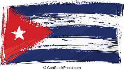 Grunge Cuba flag - Cuba national flag created in grunge...