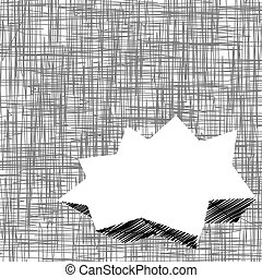 Scribble black and white background with copy space.