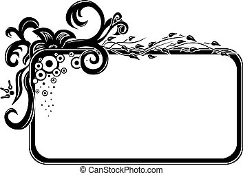 Floral frame - Blank floral frame template ready to put...