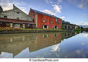 Warehouses of Otaru, Japan - OTARU, JAPAN - OCTOBER 20:...