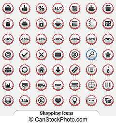 Shopping Icons - Collection of shopping icons, vector eps10...