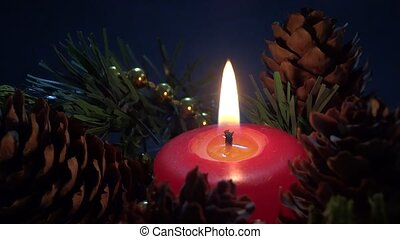 closeup candle ornament
