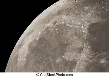 moonscape - real astronomic picture of the moon surface...