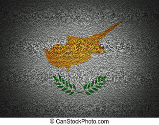 Cyprian flag wall, abstract grunge background