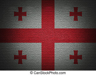 Georgian flag wall, abstract grunge background